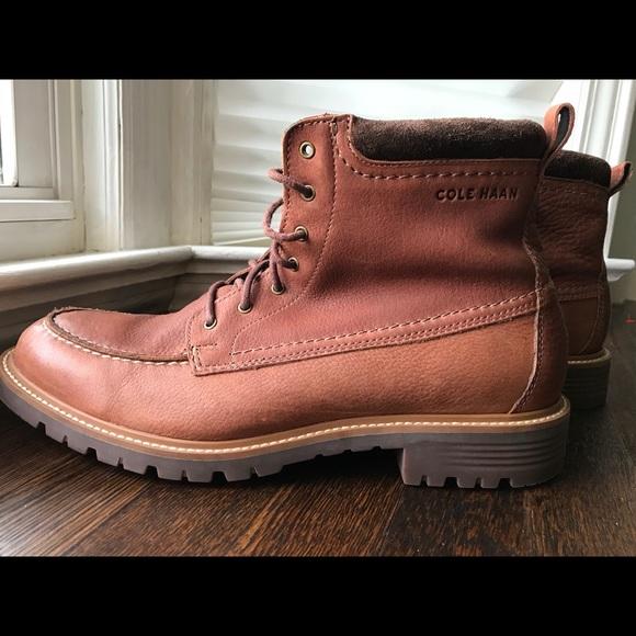 Nwot Cole Haan Keaton Moc Toe Lace Boot